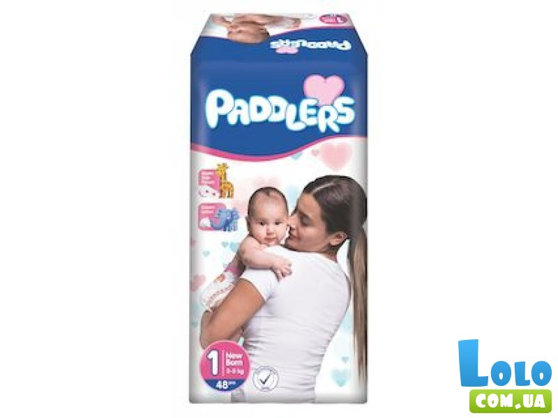 Подгузники Paddlers 1 (New Born) 2-5 кг, 13 шт