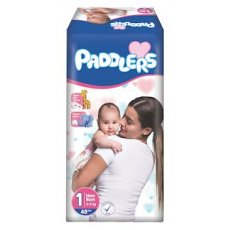 Подгузники Paddlers 1 (New Born) 2-5 кг, 48 шт