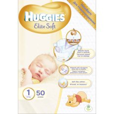 Подгузник Huggies Elite Soft 1 (Джамбо), 50 шт
