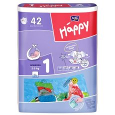 Подгузники Happy New Born 1 (2-5 кг), 42 шт