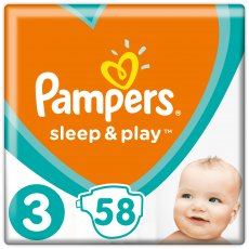 Подгузники Pampers Sleep & Play Размер 3 (Midi) 6-10 кг, 58 шт (4015400224211)