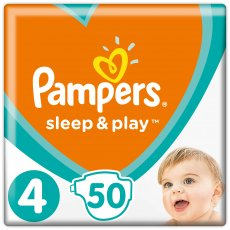 Подгузники Pampers Sleep & Play Размер 4 (Maxi) 9-14 кг, 50 шт (4015400224242)