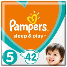 Подгузники Pampers Sleep & Play Размер 5 (Junior) 11-16 кг, 42 шт (4015400224068)
