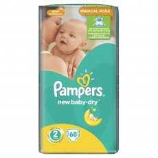 Подгузники Pampers New Baby-Dry Размер 2 (Mini) 3-6 кг, 68 шт (4015400735571)