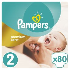 Подгузники Pampers Premium Care Размер 2 (Mini) 3-6 кг, 80 шт (4015400741633)