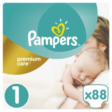 Подгузники Pampers Premium Care Размер 1 (New Born) 2-5 кг, 88 шт (4015400741602)
