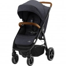 Прогулочная коляска B-AGILE R Black Shadow/Brown, Britax - Romer (антрацит)